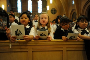Catholic School Kids Mass at Sacred Heart Cathedral