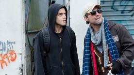 "MR. ROBOT -- ""hellofriend.mov"" Episode 101 -- Pictured: (l-r) Rami Malek as Elliot, Christian Slater as Mr. Robot -- (Photo by: David Giesbrecht/USA Network)"
